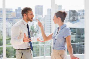 Vermieter und Mieter streiten
