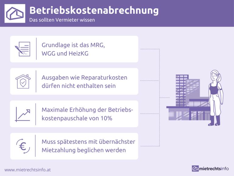 Infografik zu Erklärung zu Betriebskostenabrechnung