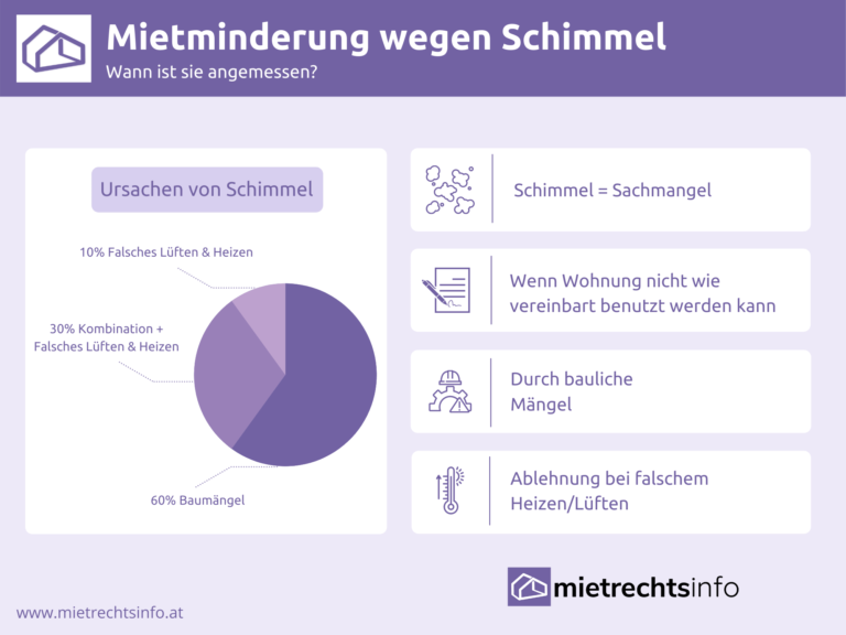 Infografik zu Rechtliches Mietminderung wegen Schimmel